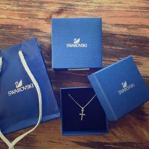 NWT Swarovski Cross Necklace
